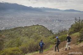 Trekking para los niños mas grandes en Cerro Manquehue