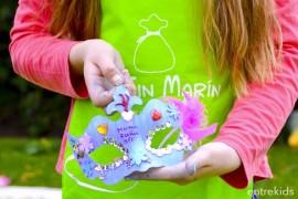 ¡Haz tu propia máscara de carnaval junto a tus amigos con De Tin Marín!