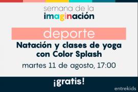 Natación para bebés y clases de yoga para niños Color Splash: Semana de la imaginación