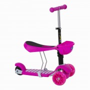 Scooter  2 En 1 Baby Way Fucsia