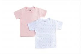 Pack 2 Camisetas Lunares Rosa Manga Corta