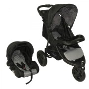 Coche Travel System Fox - Negro con Gris