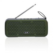 Parlante Bluetooth Portátil Lhotse L8 Verde Con Radio