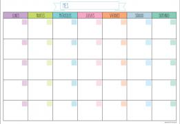 Calendario Pasteles Chico