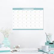 Calendario Blanco/ Celeste Mediano