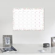Calendario Blanco/Flores Mediano