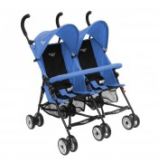 Coche Paragua Doble Baby Way Azul