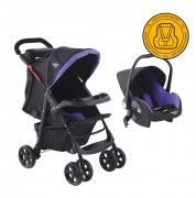 Coche Travel System Baby Way Morado Bw-413M18