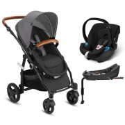 Coche Travel System Leoti Flex Lux Grey + Aton + Base
