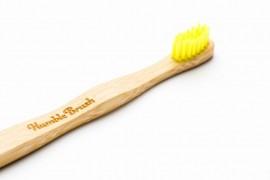 Cepillo de Dientes de Bambu Ultra Suave. Color Amarillo