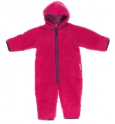 Overall de polar bebé rosado/lila con cierre