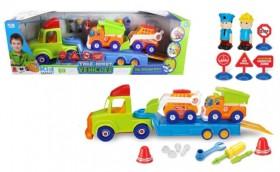 Set De Remolque Con Camiones Y Figuras