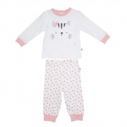 Pijama Largo Bebe Niña Crudo Pillin PVS210CRU