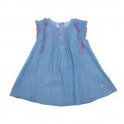 Vestido Chambray Bebe Niña Azul Pillin PVS742AZU