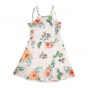 Vestido Flores Niña Blanco Pillin PVS840BCO