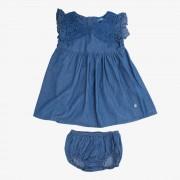 Vestido Clásico Bebe Niña Denim Pillin PVS860DEN